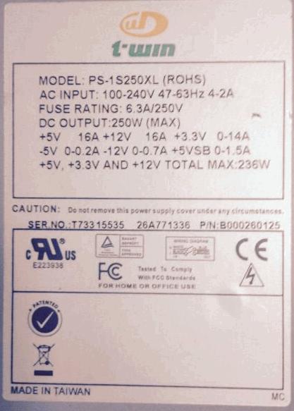 PS-1S250XL